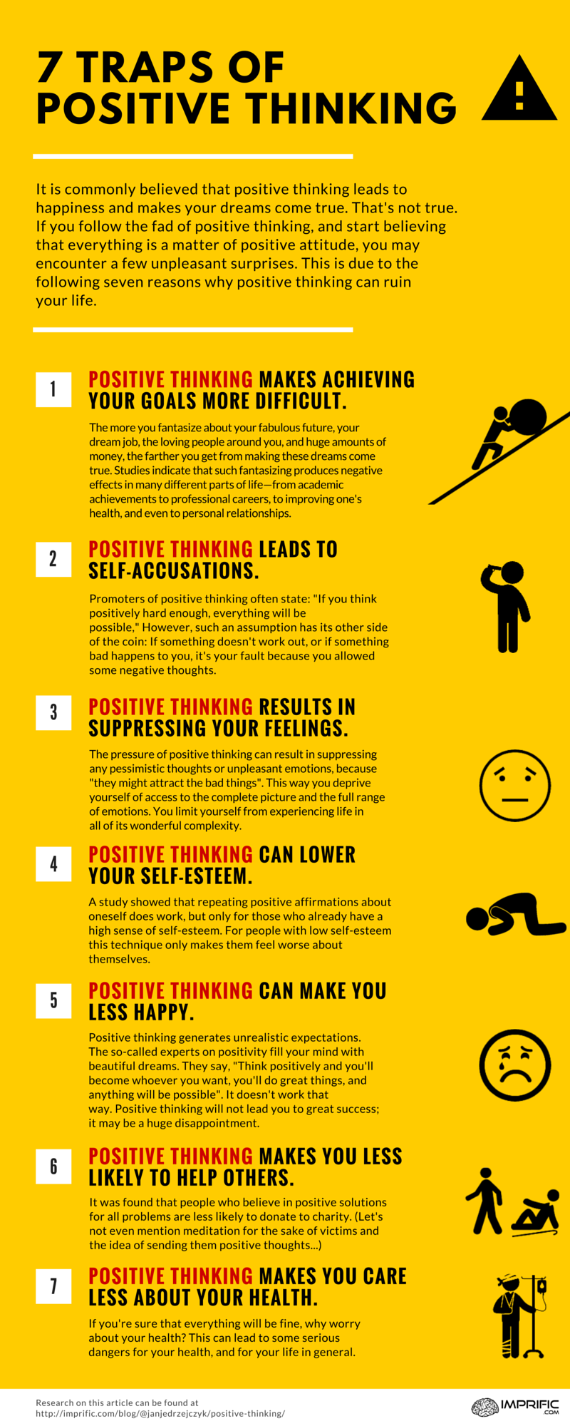 7 Reasons Why Positive Thinking Will Ruin Your Life - Imprific.com