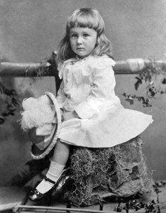 "Cute girl, hm? Well, this ""girl"" is young Franklin Delano Roosevelt"